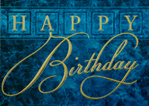 Blue Marble Happy Birthday Cards